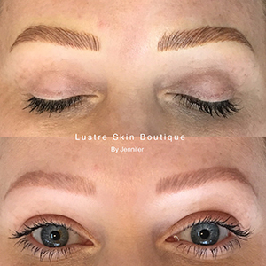 Chicago Microblading Eyebrows Before and After Lustre Skin Boutique