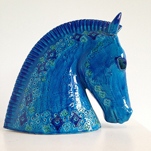 Blue Horse Decor at Lustre Skin Boutique Chicago