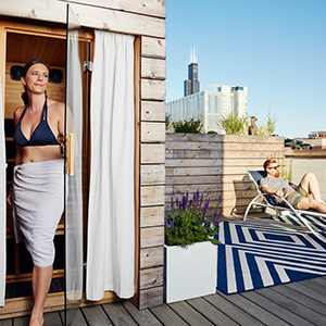 Rooftop Sauna at Lustre Skin Boutique in Chicago
